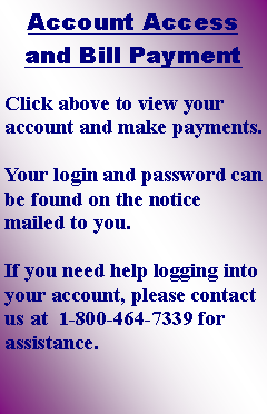 Text Box: Account Access and Bill Payment